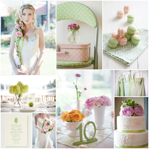 Wedding Colours: Pale Pink and Green