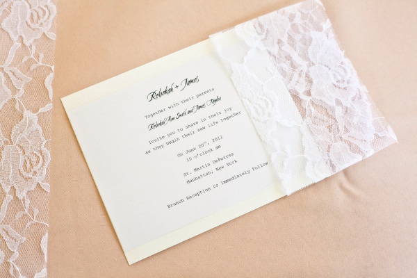 Lace Themed Wedding Invitations: Peach Wedding Theme You Could Easily DIY