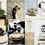 Black, White and Gold Wedding Colors