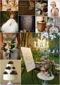 Chandeliers and Chocolates Wedding Theme