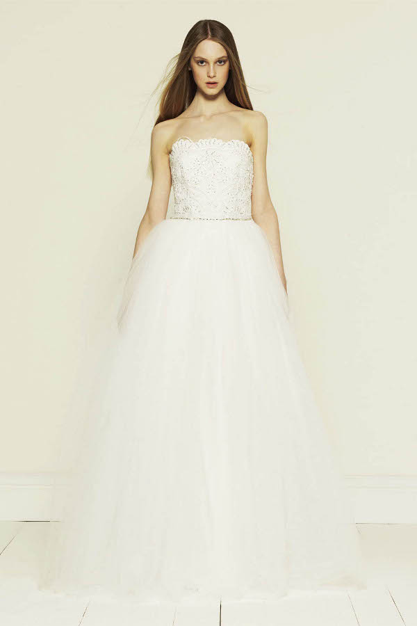 Collette Dinnigan Princess Strapless Beaded Gown