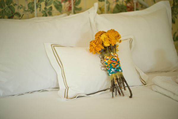 DIY Yellow Fabric Flower Bouquet