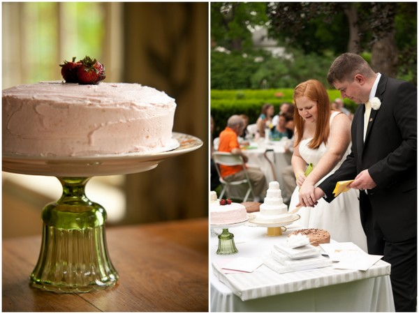 handmade wedding cake ideas Homemade Garden Wedding in Newark New York