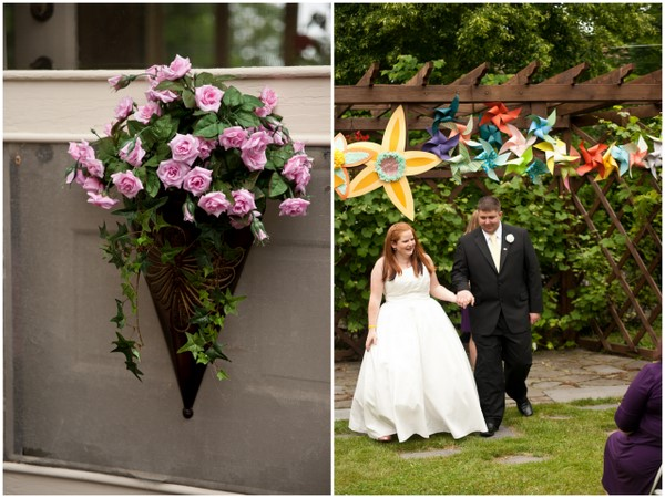 handmade wedding decorations Homemade Garden Wedding in Newark New York