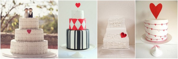 heart themed wedding cake Heart Themed Wedding Ideas To Quicken Your Pulse