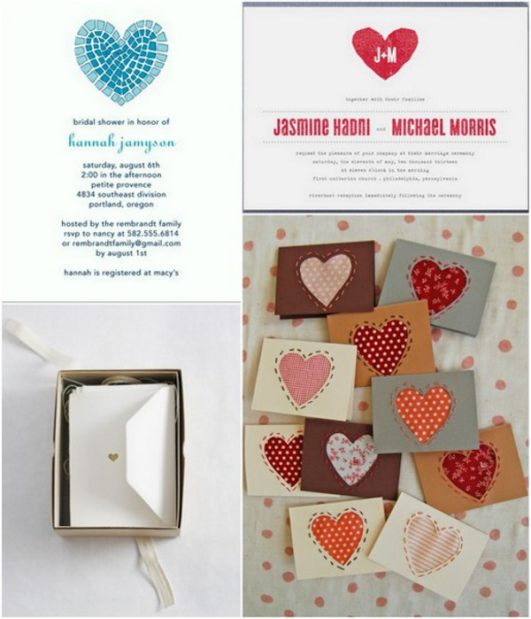 heart themed wedding invitations1 Heart Themed Wedding Ideas To Quicken Your Pulse