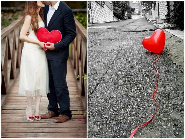 Heart Themed Wedding Pictures