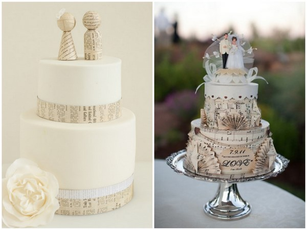Paper Decorated Wedding Cakes