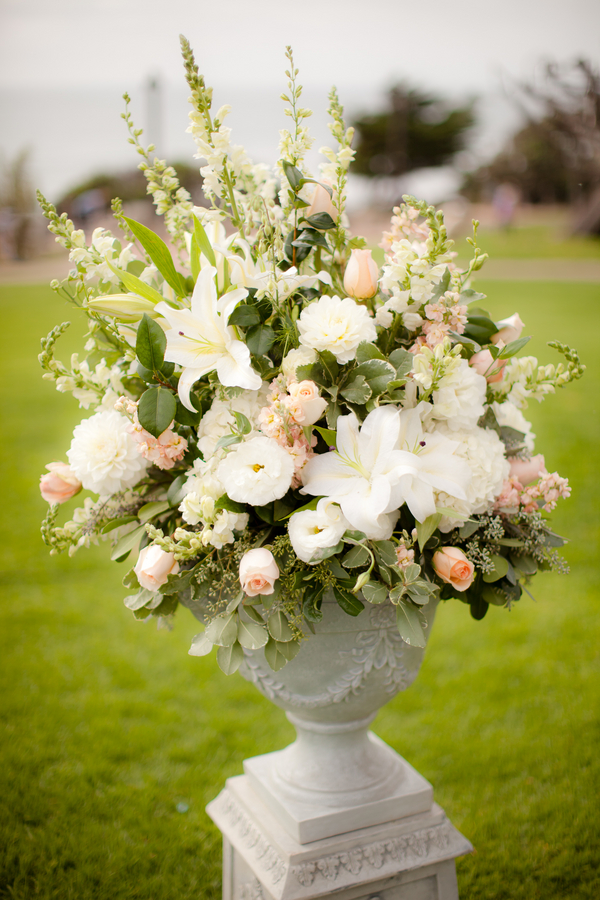 Peach and White Ceremony Flowers