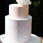 {Cake Inspiration} Peach and White Wedding Cake