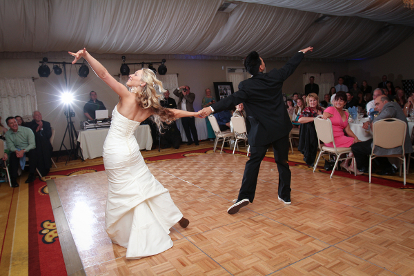 Professional Dancers Wedding Couple