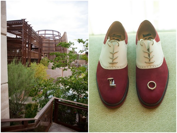Red and White Grooms Shoes