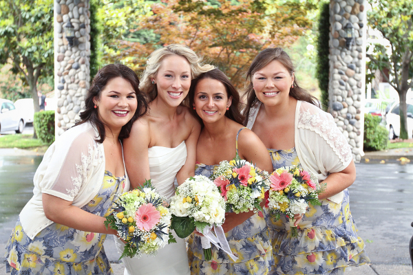Simple Floral Bridesmaids