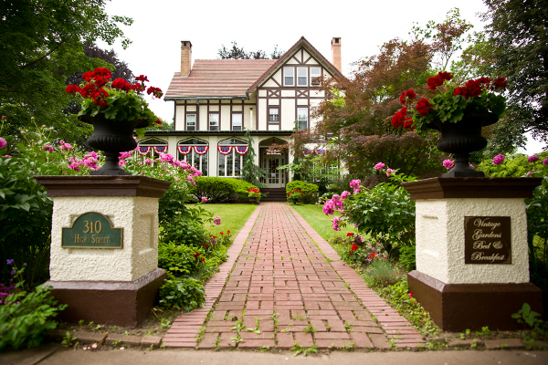 vintage gardens bed breakfast newark wedding Homemade Garden Wedding in Newark New York
