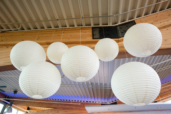 White Paper Lanterns Ceiling