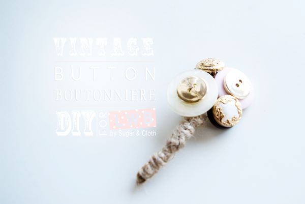 DIY Button Boutonniere Wedding