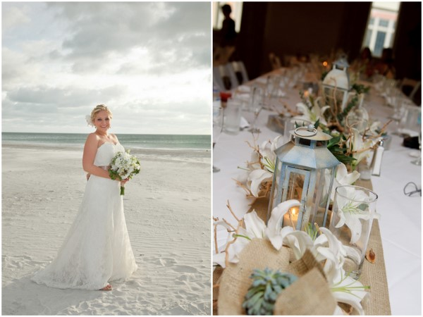 Beach Wedding Succulents