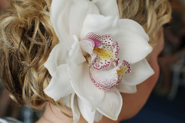 Bridal Orchid Hairpiece