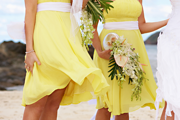 Casual Beach Bridesmaid Dresses in Yellow