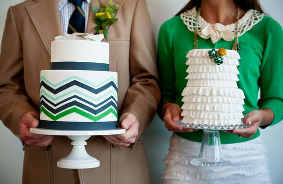 Chevron Wedding Cake Inspiration