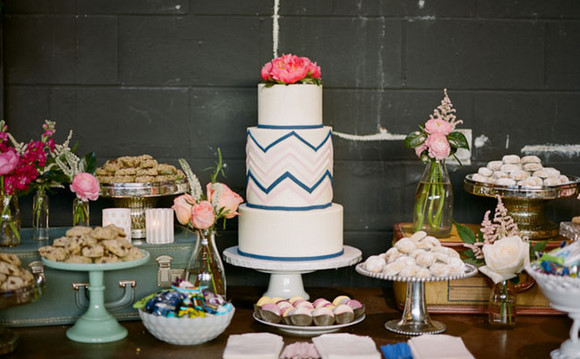 Chevron Wedding Cake Pictures