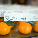 DIY Wedding Citrus Escort Cards