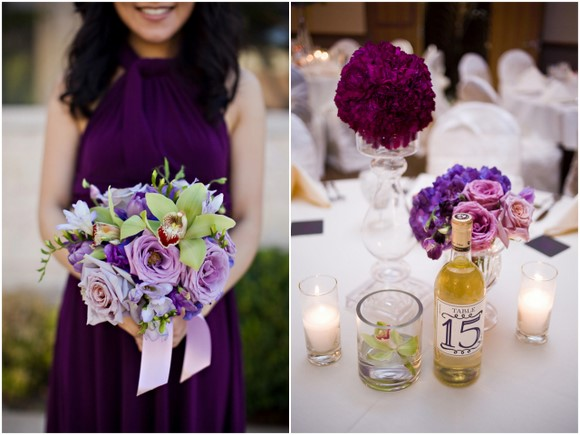 diy wedding purple details DIY Texas Wedding by Kimberly Chau Photography