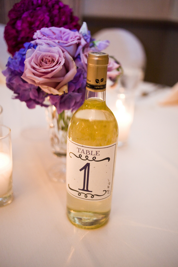 diy wedding table numbers wine bottle DIY Texas Wedding by Kimberly Chau Photography