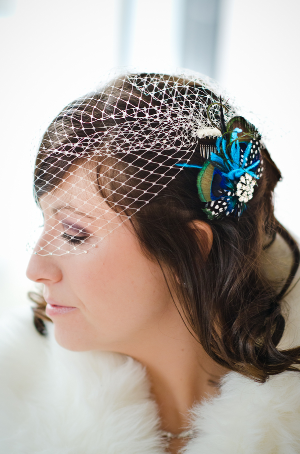 Etsy Wedding Peacock Feather Fascinator