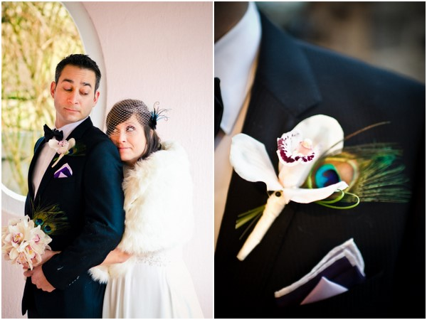 Peacock Themed Etsy Wedding Boutonniere
