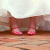 Whimsical Wedding with Pink Polka Dot Shoes