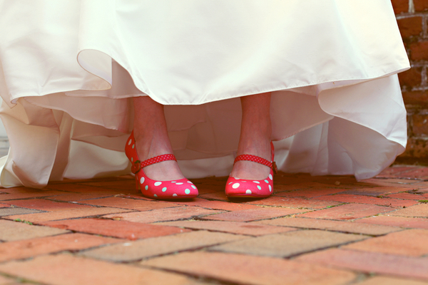 Polka Dot Shoes Wedding