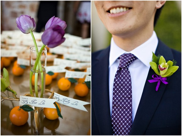 purple diy wedding details DIY Texas Wedding by Kimberly Chau Photography
