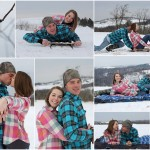 Snowy Engagement Session by Gypsy Tree Photography