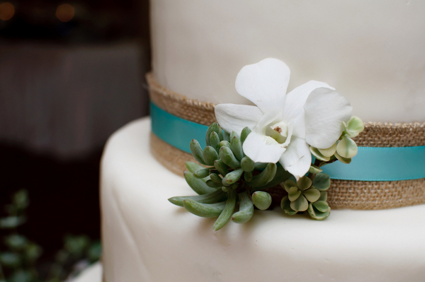 Succulent Beach Wedding Cake