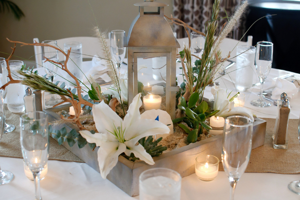 Succulent Beach Wedding Centerpiece