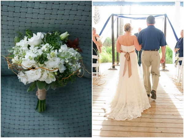 Succulent Inspired Beach Wedding