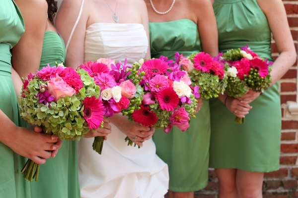 Whimsical Green Bridesmaids