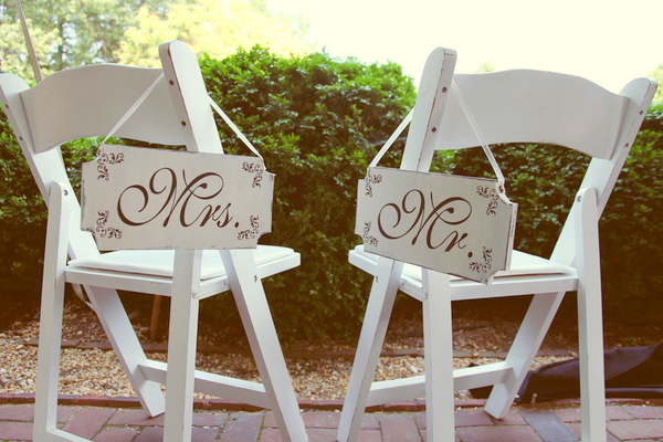 Whimsical Wedding Chair Decor