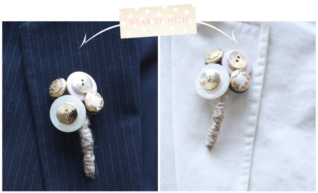 DIY Button Boutonniere