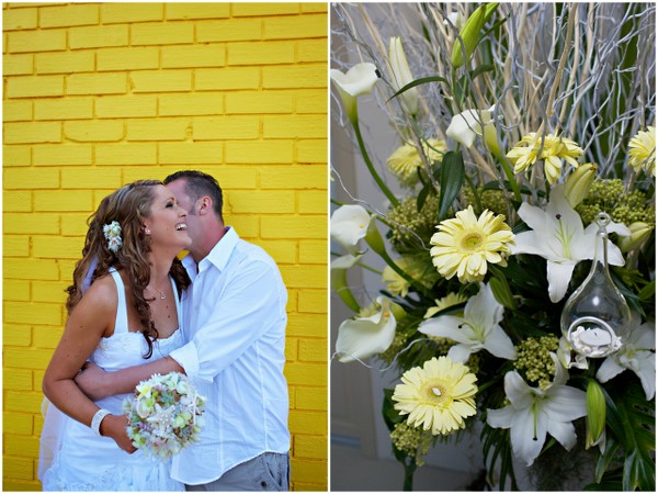 Yellow Casual Wedding