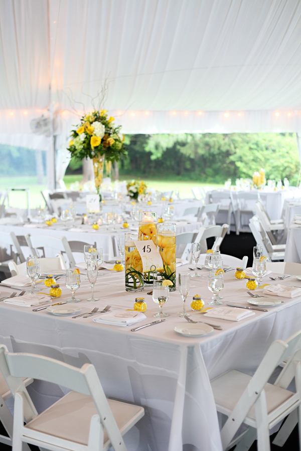 Yellow Summer Wedding Tablescape