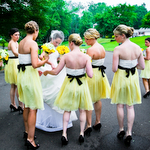 Yellow & White Bridesmaids