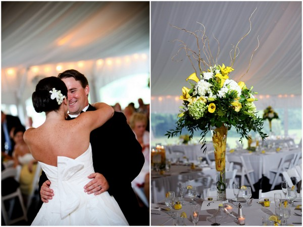 Yellow and white outdoor summer wedding by kamila harris photography yellow and white wedding decor junglespirit Gallery