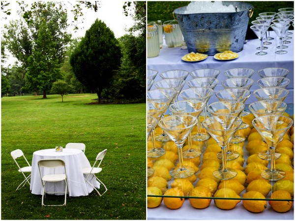 Yellow and white outdoor summer wedding by kamila harris photography yellow and white wedding ideas junglespirit Images