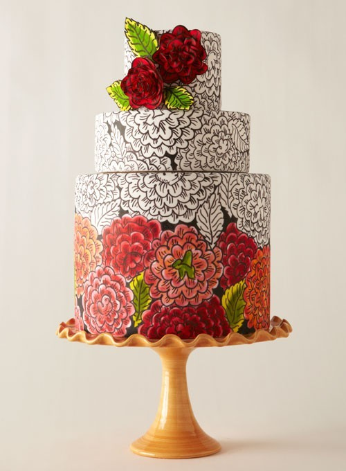 Cake Inspiration 1920s Couture Inspired Wedding Cake