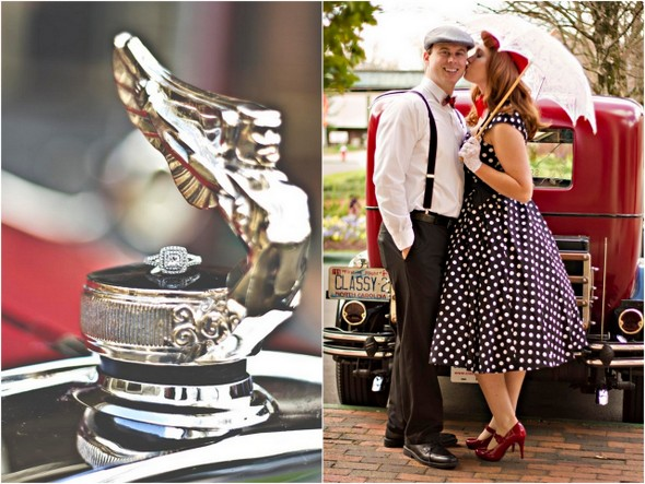 1950s Inspired Engagement