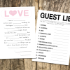 Free Printables: Cute & Creative Wedding Guest Libs