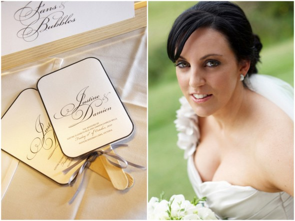 Black and Ivory Wedding Details