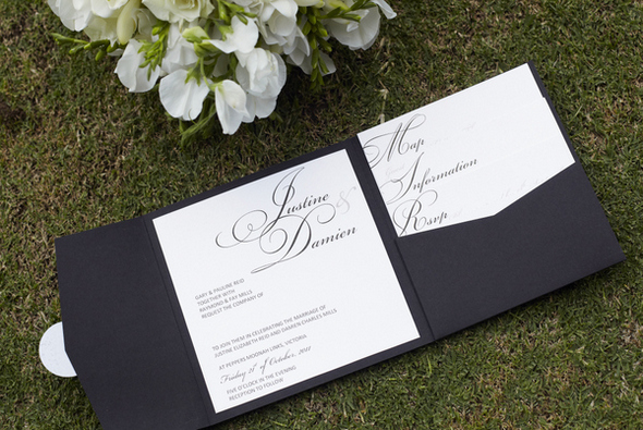 Black & White Spring Wedding Invitations